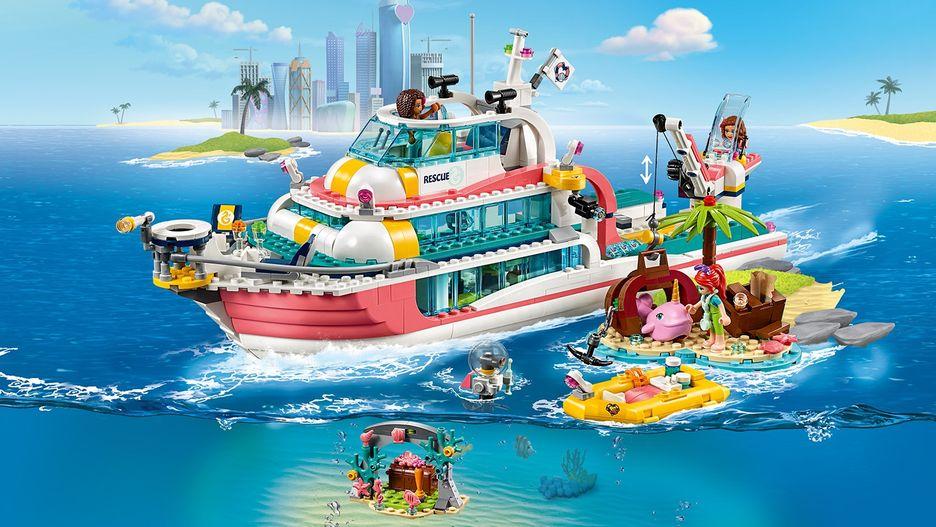LEGO Friends Rescue Mission Boat Building Set 41381 Brand ...