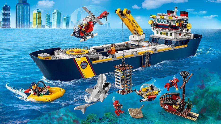 Ocean Exploration Ship 60266 - LEGO City Sets - LEGO.com ...