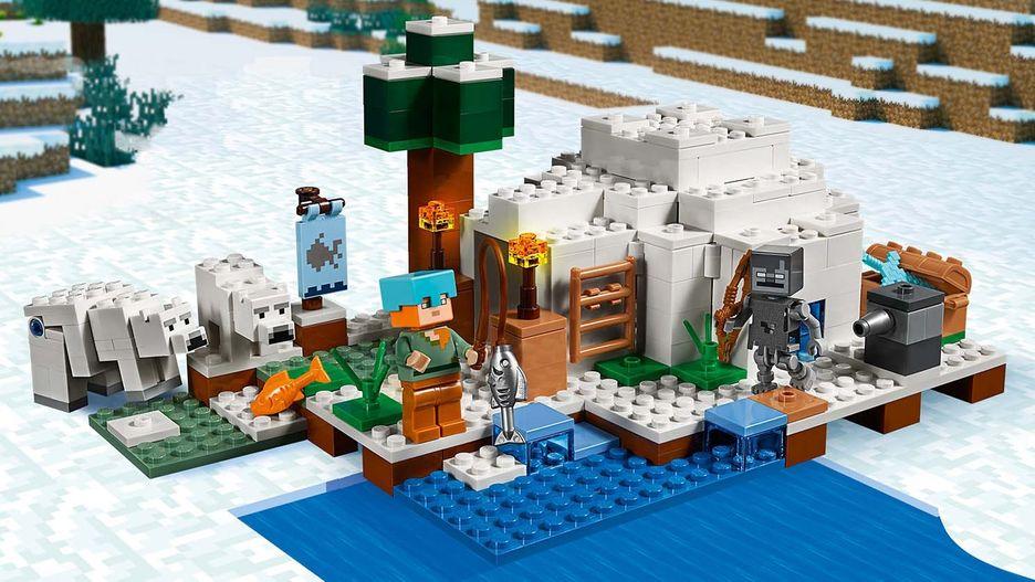 LEGO MINECRAFT BABY POLAR BEAR FROM SET 21142 RARE