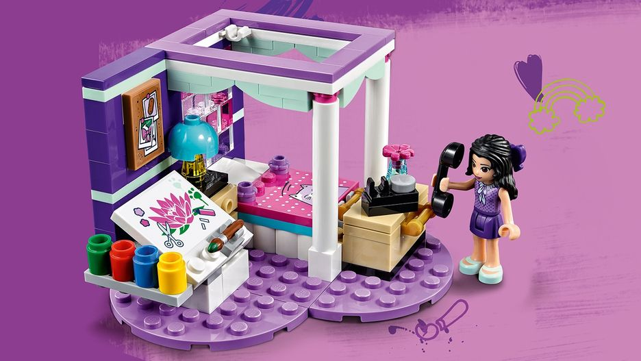 Emma S Deluxe Bedroom 41342 Lego Friends Sets Lego Com For Kids Sg