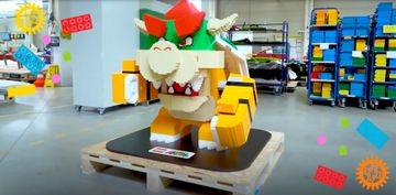 GIANT Bowser made out of bricks!