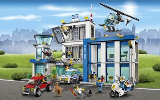 LEGO City Police station, vehicles and minifigures - Police Station 60047