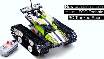 How to attach a pen to the LEGO Technic RC Tracked Racer