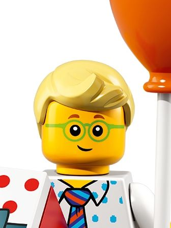 LEGO Minifigures Birthday Party Boy with baloon portrait