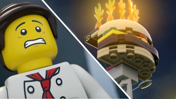 Save the Burgers - LEGO City Fire Brigade Fights Flames at the Burger Bar!