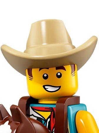 LEGO Minifigures Guy in Cowboy Costume portrait