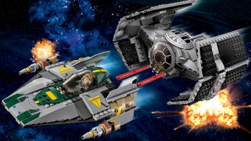 Le TIE Advanced de Dark Vador contre l'A-Wing Starfighter