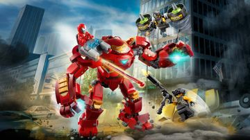 76164 - Iron Man Hulkbuster versus A.I.M. Agent
