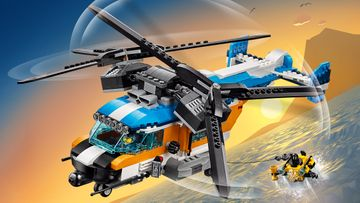 Soar with the LEGO® Creator 3in1 Twin-Rotor Helicopter