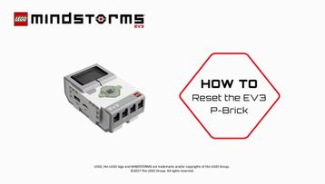 How to Reset the EV3 P-brick