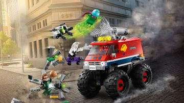 Spider-Mans monstertruck mot Mysterio