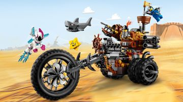Jernskægs trehjulede metalmotorcykel!