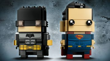 LEGO Brickheadz - 41610 Tactical Batman & Superman - Build these two characters from the Justice League movie and display them on their individual baseplates.