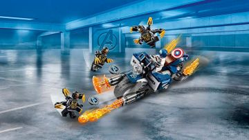 76123 Captain America Outriders Attack