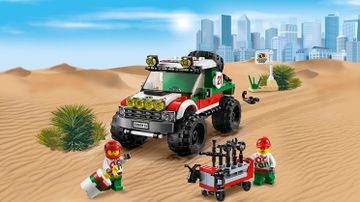 LEGO City Great Vehicles off-roader with driver and mechanic minifigures – 4 x 4 Off Roader 60115