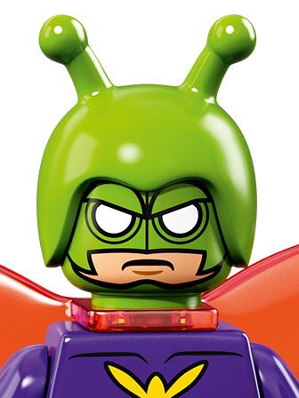A portrait of angry Killer Moth with a green mask