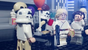Fuga dalla festa in costume sulla Death Star™ – Storia di una battaglia LEGO® Star Wars™