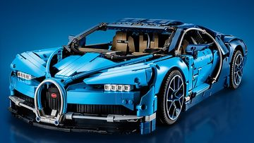 LEGO Technic - 42083 Bugatti Chiron - Race off in this aerodynamic, detailed, black and blue race car!