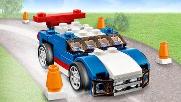 Blå racerbil