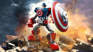 Captain America v obrněném robotu