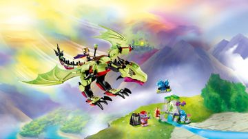 LEGO Elves - 41183 The Goblin King's Evil Dragon - Fly with the Goblin King on the back of his mind-controlled dragon, as he hunts for crystals to power his portal!