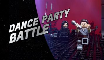 A Dancefloor Battle in Snoke's Throne Room - LEGO® Star Wars™