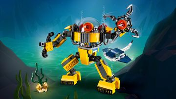 Build an Underwater Robot, Submarine or Underwater Crane with LEGO® Creator 3in1!