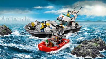レゴ シティ プリズンアイランドの護送 – ポリスパトロールボート 60129