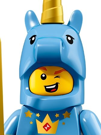 LEGO Minifigures Guy in Unicorn Costume portrait