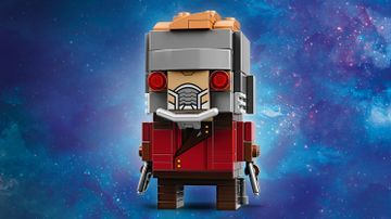 LEGO Brickheadz - 41606 Star-Lord - Build a LEGO Brickheadz figure of Star-Lord from the Avengers: Infinity War movie. Check out his golden hair,  battle helmet and boot rockets.