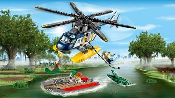 LEGO City Swamp Police chase - Helicopter Pursuit 60067