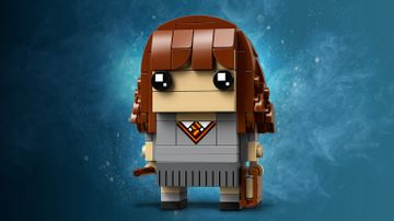 LEGO Brickheadz - 41916 Hermione Granger - Build Hermione Granger in Hogwarts School uniform as in the movie Harry Potter and The Sorcerer's Stone.