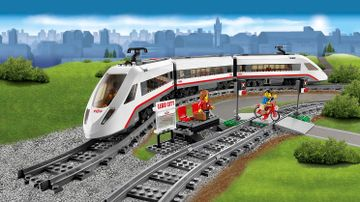 LEGO City train on tracks - High-Speed Passenger Train 60051