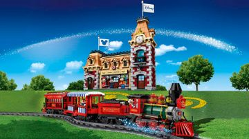 Le train et la gare Disney