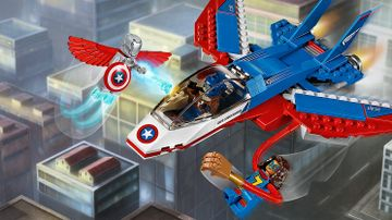 La poursuite en avion de Captain America