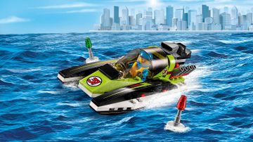 Grandes vehículos LEGO City: lancha de carreras verde – Lancha de carreras (60114)