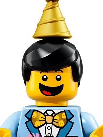 LEGO Minifigures Cake Guy portrait