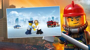 LEGO® City Sky Police and LEGO City Fire Epic Handshake: Firefighting Fist Bump Tutorial!