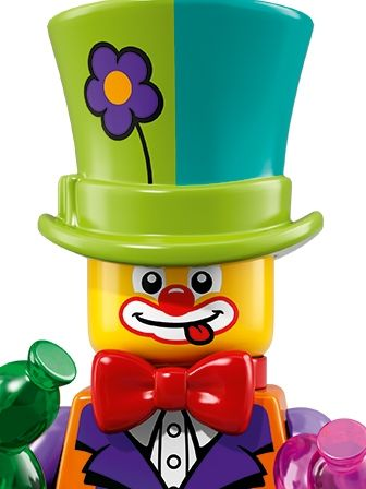 LEGO Minifigures Guy in Party Clown Costume portrait