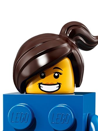 LEGO Minifigures Girl in LEGO Brick Suit portrait