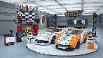 La ligne d'arrivée de la Porsche 911 GT
