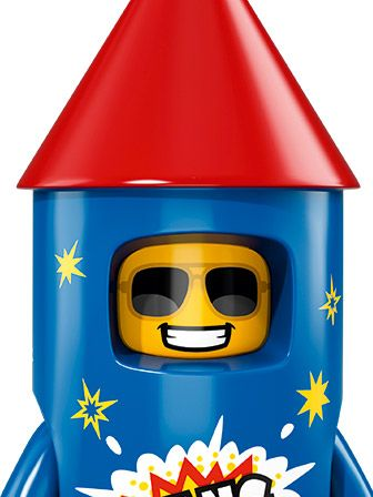 LEGO Minifigures Guy in Firework Costume portrait