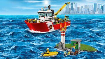Le bateau des pompiers