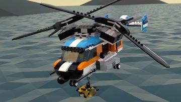Decolla sull'Elicottero bi-rotore LEGO® Creator 3 in 1