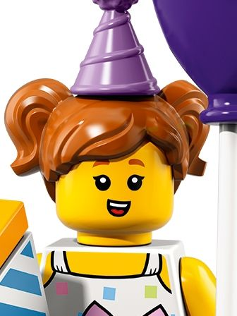 LEGO Minifigures Birthday Party Girl with baloon portrait