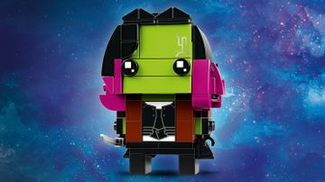 LEGO Brickheadz - 41607 Gamora - Build a LEGO Brickheadz figure of Gamora from the Avengers: Infinity War movie. Check out her green skin, dark pink hair and gun.
