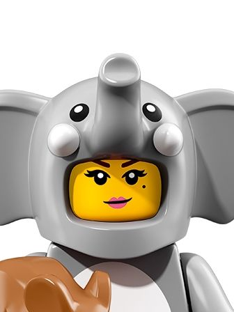 LEGO Minifigures Girl in Elephant Costume portrait