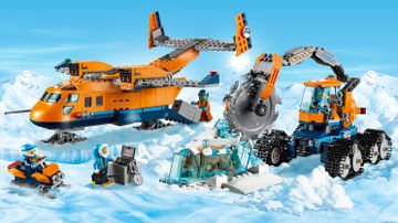 LEGO City Arctic Expedition - 60196 Arctic Supply Plane - Use the gigantic circular saw on an arctic vehicle to carve a saber tooth tiger out of the ice before loading it on to the plane.