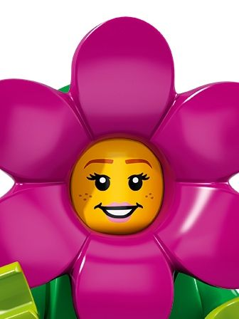 LEGO Minifigures Girl in Flower Pot Costume portrait