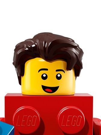 LEGO Minifigures Guy in LEGO Brick Suit portrait
